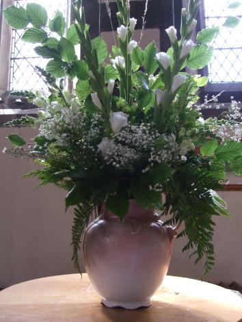 Flowers as arranged by Gillian
